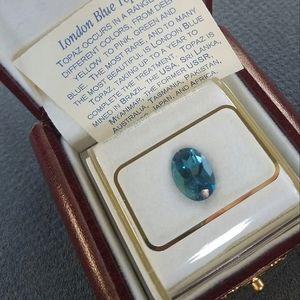 London Blue Topaz Gem in Orig Box 4ct
